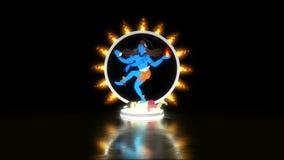 Λόρδος Shiva Dancing σε Apasmara σε ένα δαχτυλίδι της πυρκαγιάς απόθεμα βίντεο