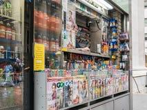 Λόρδοι ιδιοκτητών κάρρων ειδήσεων του Λόουερ Μανχάταν έξω από το παράθυρο κάρρων Στοκ φωτογραφία με δικαίωμα ελεύθερης χρήσης