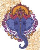 Λόρδος Ganesha, μπορεί να χρησιμοποιηθεί ως κάρτα για τον εορτασμό Ganesh Chaturth Στοκ Εικόνα