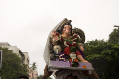 Λόρδος Ganesha Procession επτά Στοκ Εικόνες