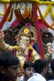 Λόρδος Ganesha Procession τρία Στοκ εικόνα με δικαίωμα ελεύθερης χρήσης