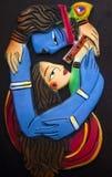 Λόρδος Krishna και το ladylove του στοκ εικόνες