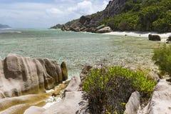 Λόφοι γρανίτη και κοράλλι, Λα Digue, Σεϋχέλλες Στοκ φωτογραφία με δικαίωμα ελεύθερης χρήσης