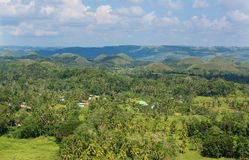 Λόφοι σοκολάτας, νησί Bohol Στοκ Εικόνα
