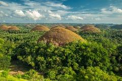 Λόφοι σοκολάτας, Bohol νησί, Φιλιππίνες στοκ φωτογραφία με δικαίωμα ελεύθερης χρήσης