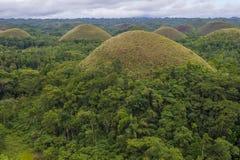 Λόφοι σοκολάτας, Bohol στοκ εικόνες