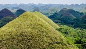 Λόφοι σοκολάτας, καλοκαίρι, νησί Bohol, Φιλιππίνες Στοκ φωτογραφία με δικαίωμα ελεύθερης χρήσης