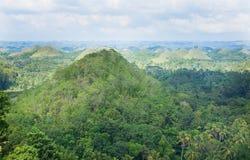 Λόφοι σοκολάτας, νησί Bohol Στοκ φωτογραφία με δικαίωμα ελεύθερης χρήσης