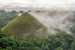 Λόφοι σοκολάτας σε Bohol Στοκ Φωτογραφία