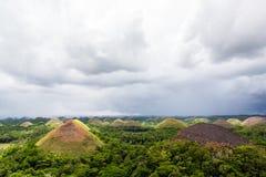 Λόφοι σοκολάτας στις Φιλιππίνες Στοκ Φωτογραφία