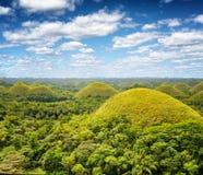 Λόφοι σοκολάτας στο νησί Bohol, Φιλιππίνες Στοκ Φωτογραφίες