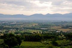 Λόφοι στην όμορφη επαρχία του Marche κοντά στο matelica, Ιταλία Στοκ φωτογραφία με δικαίωμα ελεύθερης χρήσης