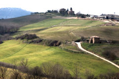 Λόφοι της Τοσκάνης στοκ εικόνα