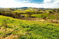 Λόφοι της Τοσκάνης στοκ εικόνες
