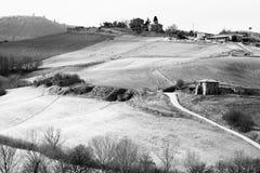 Λόφοι της Τοσκάνης στοκ φωτογραφία