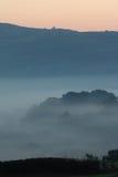 Λόφοι της Misty στη Dawn Στοκ φωτογραφία με δικαίωμα ελεύθερης χρήσης