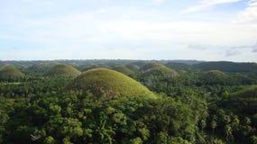 Λόφοι Bohol σοκολάτας Στοκ Φωτογραφίες