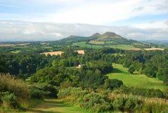 Λόφοι Eildon από την άποψη Scotts στοκ φωτογραφίες