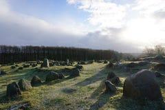 Λόφοι Lindholm Στοκ φωτογραφία με δικαίωμα ελεύθερης χρήσης