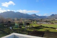 Λόφοι Stellenbosch στοκ εικόνα με δικαίωμα ελεύθερης χρήσης