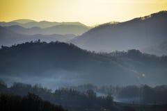 Λόφοι Zagorje στοκ φωτογραφία