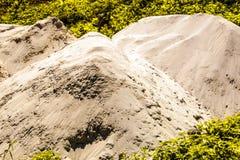 Λόφος άμμου για τη συστολή σπιτιών στοκ φωτογραφίες