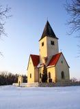 λόφος εκκλησιών χιονώδη&sigma Στοκ Εικόνα