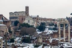 λόφος Ρωμαίος φόρουμ capitoline που φαίνεται στοκ εικόνα
