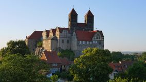 Λόφος του Castle σε Quedlinburg, Γερμανία φιλμ μικρού μήκους