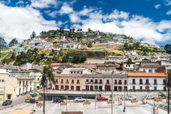 Λόφος EL Panecillo στο Κουίτο στοκ φωτογραφίες με δικαίωμα ελεύθερης χρήσης