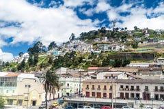 Λόφος EL Panecillo στο Κουίτο στοκ φωτογραφίες