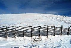 Λόφος Pretulalpe από το σαλέ Roseggerhaus το χειμώνα Fischbacher Alpen Στοκ Εικόνα