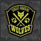 Λύκοι - στρατιωτικά ετικέτα, διακριτικά και σχέδιο Στοκ εικόνα με δικαίωμα ελεύθερης χρήσης