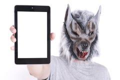 Λύκος με την τεχνολογία Στοκ Φωτογραφίες