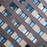 Λύσεις προσόψεων των νέων κατοικημένων κτηρίων στοκ φωτογραφίες