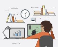 Λύσεις ΤΠ Εργασία και παιχνίδι Διαγράμματα και διαγράμματα κέρδος ευτυχής χρήστης Στοκ εικόνες με δικαίωμα ελεύθερης χρήσης