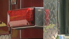 Λ Α η πυρκαγιά μηχανών firetruck παλαιά εμφανίζει απόθεμα βίντεο