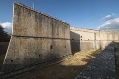Λ ` Aquila Abruzzo, Ιταλία: το κάστρο Στοκ Εικόνες