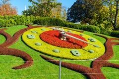 Λ ` horloge fleurie, ή το ρολόι λουλουδιών, Γενεύη, Ελβετία Στοκ Φωτογραφίες