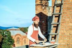 Μάγειρας ατόμων με την κυλώντας καρφίτσα Στοκ Φωτογραφία