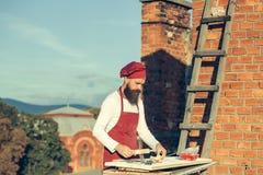 Μάγειρας ατόμων με την κυλώντας καρφίτσα Στοκ Εικόνες