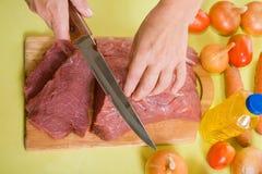 μάγειρας βόειου κρέατο&sigmaf στοκ εικόνα