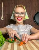 Μάγειρας γυναικών Στοκ εικόνες με δικαίωμα ελεύθερης χρήσης