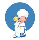 μάγειρας ευτυχής λίγα Στοκ φωτογραφία με δικαίωμα ελεύθερης χρήσης