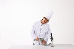 μάγειρας ευτυχής Στοκ εικόνες με δικαίωμα ελεύθερης χρήσης