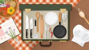 Μάγειρας και τομέας εστιάσεως στο σπίτι Στοκ φωτογραφία με δικαίωμα ελεύθερης χρήσης
