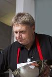 Μάγειρας στην εργασία Στοκ Εικόνες