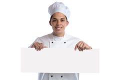 Μάγειρας τροφίμων το κενό κενό σημάδι copyspace που απομονώνεται που μαγειρεύει Στοκ εικόνα με δικαίωμα ελεύθερης χρήσης