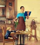 Μάγειρες μπαμπάδων στοκ φωτογραφία