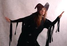 μάγισσα αποκριών Στοκ Φωτογραφίες